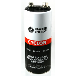 Hawker Cyclon, 0820-0004, 2V 25Ah BC Sealed Lead Acid Battery, CYCLON-BC