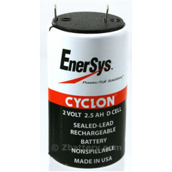Hawker Cyclon, 0810-0004, 2V 2.5Ah D Size Battery, CYCLON-D