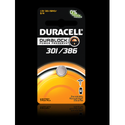 Duracell 301/386B Watch Battery (SR43, GS12), D301-386PK