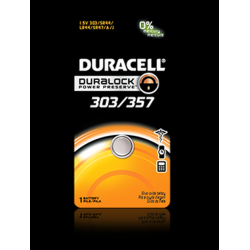 Duracell 303/357B Watch Battery (SR44, G13, GS14 Replacement), D303-357PK
