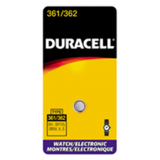 Duracell 361/362B Watch Battery (SR58, SR720, SR/TR721SW Replacement), D361-362PK
