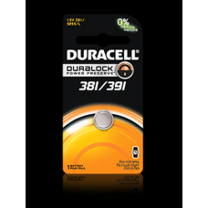 Duracell 381/391B Watch Battery (SR55, SR/TR1120, G58), D381-391PK