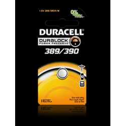Duracell 389/390B Watch Battery (SR54, SR1130, G10 Replacement), D389-390PK