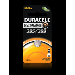 Duracell 395/399B Watch Battery (SR57, SR/TR927SW Replacement), D395-399PK