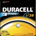 Duracell 1/3N 3V Lithium Button Battery DL1/3NB