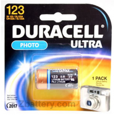 Duracell Coppertop 2/3a 123A (CR123A) 3V Lithium Battery DL123ABPK