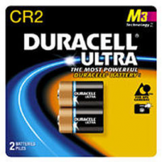 Duracell Coppertop Ultra CR2 3V Lithium Photo Battery 2/pk DLCR2B2PK