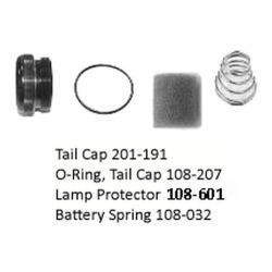 Maglite D Cell (begins w/ D in Serial Number) Tailcap Assembly - Bi-Pin Bulb