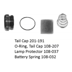Maglite D Cell (begin w/ D in Serial Number) Tailcap Assembly - Flange Bulb