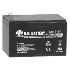 BB Battery, EB12-12T2, 12V 12Ah Sealed Lead Acid Battery