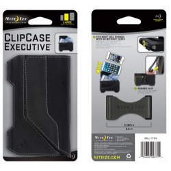 Nite Ize Clip Case Executive Phone Holster, Large, Black Leather