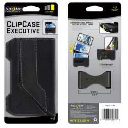 Nite Ize Clip Case Executive Phone Holster, Extra Large, Black Leather