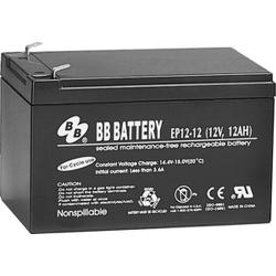 BB Battery, EP12-12T2, 12V 12Ah Sealed Lead Acid Battery