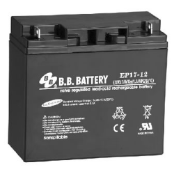 BB Battery, EP17-12B1, 12V 17Ah Sealed Lead Acid Battery
