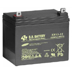 BB Battery, EP33-12B7, 12v 33ah Sealed Lead Acid Battery