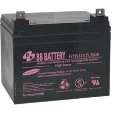 BB Battery, EVP35-12B7, 12V 35Ah Sealed Lead Acid Battery