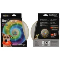 Nite Ize FlashFlight Dog Discuit LED Flying Disc, Disco LED