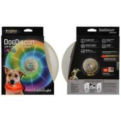 Nite Ize FlashFlight Dog Discuit LED Flying Disc, Disco LED