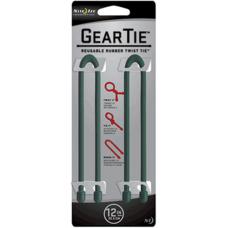 Nite Ize Gear Ties, 12 inch Forest Green Rubber Twist Tie, GT12-2PK-28