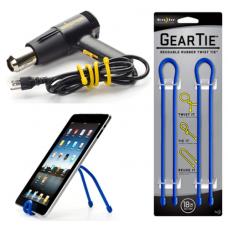 Nite Ize Gear Ties, 18 inch Blue Rubber Twist Tie, GT18-2PK-03