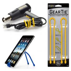 Nite Ize Gear Ties, 18 inch Yellow Rubber Tie, GT18-2PK-16