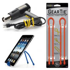 Nite Ize Gear Ties, 18 inch Bright Orange Twist Tie, GT18-2PK-31