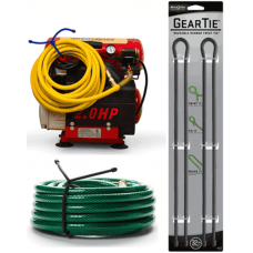 Nite Ize Extra Large Gear Ties, 32 inch Green Rubber Tie, GT32-2PK-26