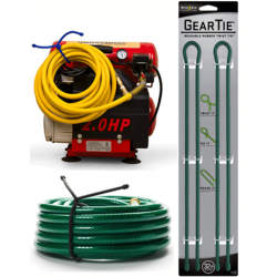 Nite Ize Extra Large Gear Ties, 32 inch Forest Green, GT32-2PK-28