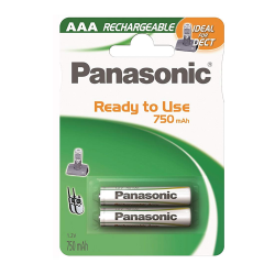 Panasonic DECT AAA NiMh AAA Cordless Phone Batteries, 2/pack, HHR-4DPA/2B