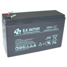 BB Battery, HR6-12T2, 12V 6Ah Sealed Lead Acid Battery