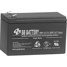 BB Battery, HR9-12T2, 12V 8Ah Sealed Lead Acid Battery