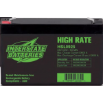 Interstate Battery, HSL0925, 6 Volt 9 Ah (34W) High Rate  SLA Battery, T2