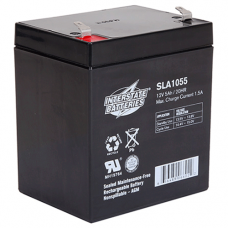 Interstate Brand, SLA1055, 12v 5Ah Sealed Lead Acid Battery, T1