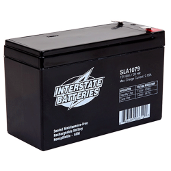 Interstate Battery, SLA1079, 12v 8Ah Sealed Lead Acid Battery, T2