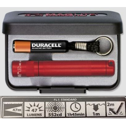 Maglite LED Solitaire Gift Box, J3A032, Red