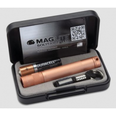 Maglite LED Solitaire 1AAA Keychain Flashlight, Rose Gold Presentation Gift Box