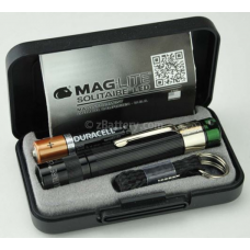 Maglite Spectrum Series Solitaire LED Keychain Flashlight, J3ASY2, 160-325, Black Body Green LED