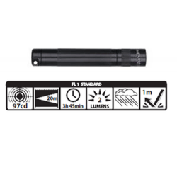 Maglite Incandescent Solitaire Flashlight, K3A016, 120-808, BLACK