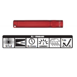 Maglite Incandescent Solitaire Flashlight, K3A036, 120-809, RED
