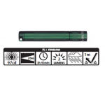 Maglite Incandescent Solitaire Flashlight, K3A396, 120-813, FOREST GREEN