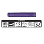 Maglite Incandescent Solitaire Flashlight, K3A986, *Purple