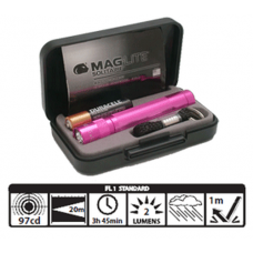Maglite Incandescent Solitaire Presentation Gift Box K3AKY2 Pink