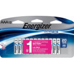 Energizer L92 AAA 1.5V Lithium Ultimate Battery 12/card, L92SBP-12