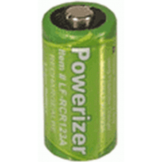 Powerizer CR123A LiFePO4 3V 450mAh rechargeable battery, LFP-RCR123A