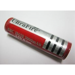 UltraFire 18650 3.7v 3000mAh Li-Ion Flashlight Battery, LION-1865-30-UF