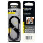 Nite Ize S-Biner Slidelock Locking Carabiner Size 4, Black Steel