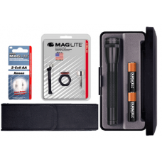 2AA Mini MagLite Gift Kit, Black M2A01L-KIT