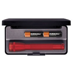 Maglite MiniMag 2 Cell AA Flashlight M2A03L, 103-865, RED, Gift Box