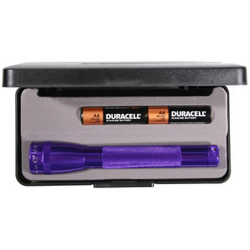 Maglite MiniMag 2 Cell AA Flashlight M2A98L, 103-871, PURPLE, Gift Box