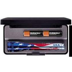 Maglite MiniMag 2 Cell AA Flashlight M2AAEL, 103-872, US FLAG, Gift Box